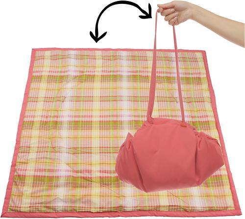 Коврик трансформер Чудо-Чадо + переносной коврик-сумка коралловый/клетка (4)