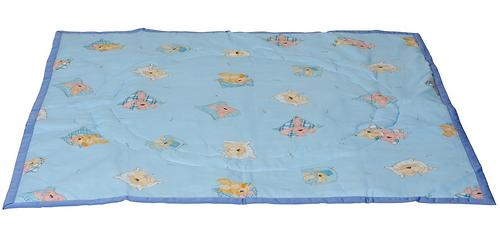 Коврик трансформер Чудо-Чадо + переносной коврик-сумка голубой/мишки (7)