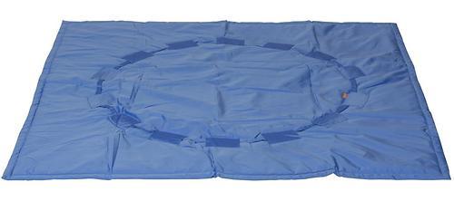 Коврик трансформер Чудо-Чадо + переносной коврик-сумка голубой/мишки (8)