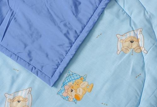 Коврик трансформер Чудо-Чадо + переносной коврик-сумка голубой/мишки (9)