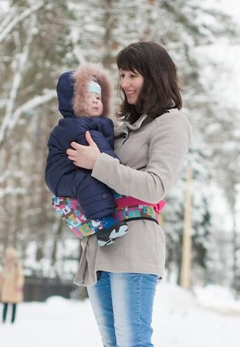 Пояс Чудо-Чадо Xипсит для ношения ребенка ( с сидением ) геометрия (18)