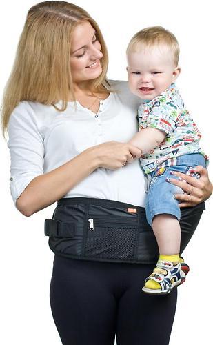 Пояс Чудо-Чадо Xипсит для ношения ребенка (с сиденьем) Черный (6)