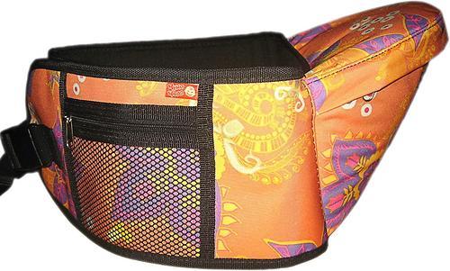 Пояс Чудо-Чадо Xипсит для ношения ребенка ( с сидением ) оранжевый/цветы (6)