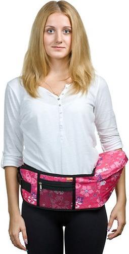 Пояс Чудо-Чадо Xипсит для ношения ребенка ( с сидением ) розовый/гламур (10)