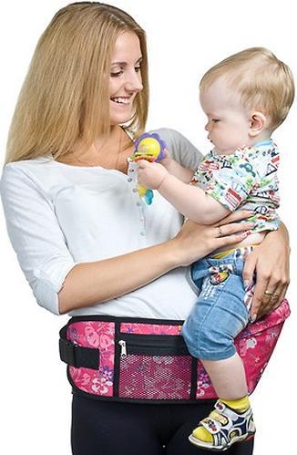 Пояс Чудо-Чадо Xипсит для ношения ребенка ( с сидением ) розовый/гламур (12)