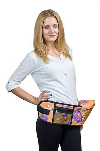 Пояс Чудо-Чадо Xипсит для ношения ребенка ( с сидением ) оранжевый/цветы (8)
