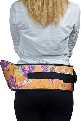 Пояс Чудо-Чадо Xипсит для ношения ребенка ( с сидением ) оранжевый/цветы (10)