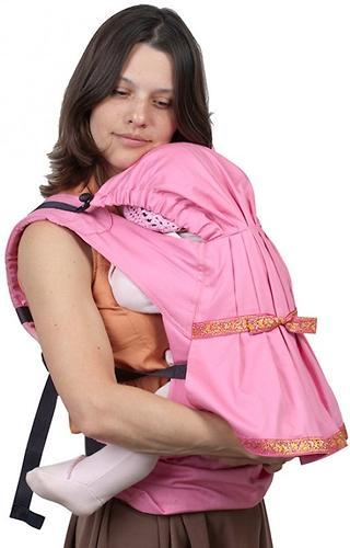 Слинг-рюкзак Чудо-Чадо Дочкомобиль Розовый (11)