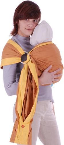 Слинг Чудо-Чадо с кольцами Бабочка горчичный размер M (4)