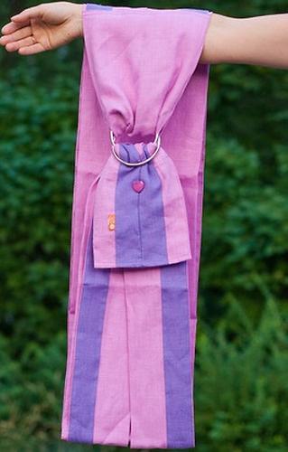 Слинг Чудо-Чадо с кольцами Лен Комби розовый размер S (5)