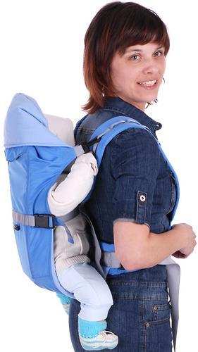 Кенгуру-рюкзак Чудо-Чадо Baby Active Simple голубой (10)