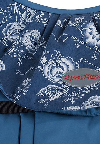 Слинг-рюкзак Чудо-Чадо Бебимобиль Стиль синий цветы (10)