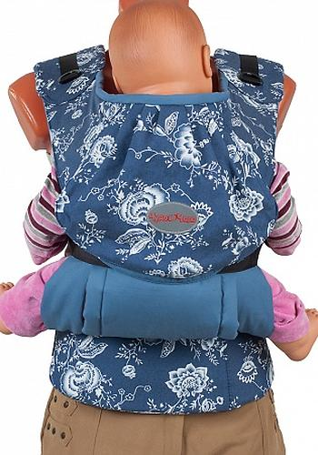 Слинг-рюкзак Чудо-Чадо Бебимобиль Стиль синий цветы (7)