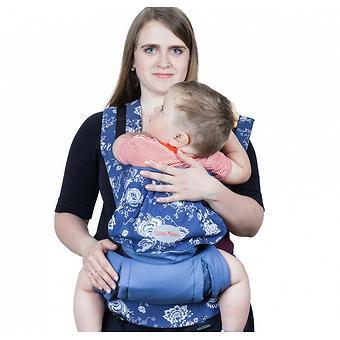 Слинг-рюкзак Чудо-Чадо Бебимобиль Стиль синий цветы - Minim