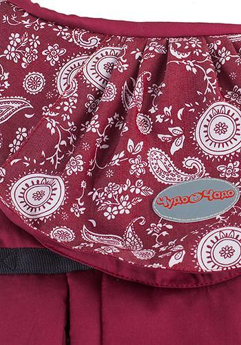 Слинг-рюкзак Чудо-Чадо Бебимобиль Стиль вишневый пейсли (10)