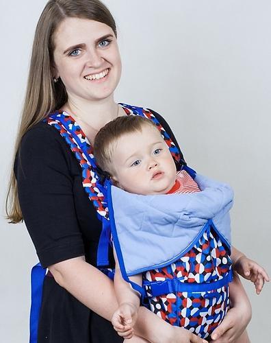 Кенгуру-рюкзак Чудо-Чадо Baby Active Choice Карнавал-синий (8)