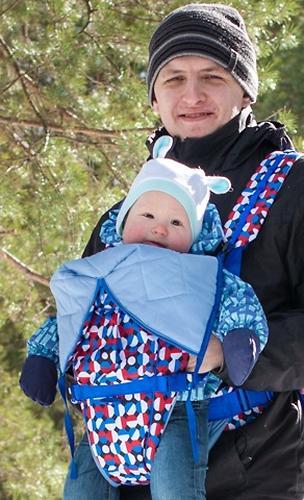 Кенгуру-рюкзак Чудо-Чадо Baby Active Choice Карнавал-синий (9)