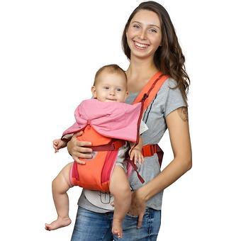 Кенгуру-рюкзак Чудо-Чадо Baby Active Luxe (вишнево-коралловый) - Minim