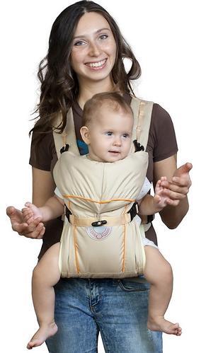Кенгуру-рюкзак Чудо-Чадо Baby Active Simple Бежевый (6)