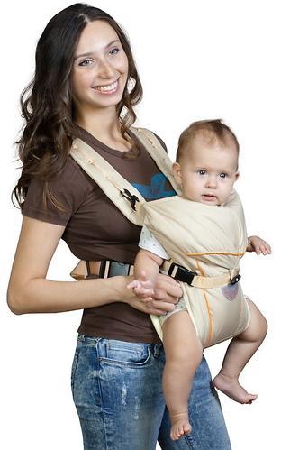 Кенгуру-рюкзак Чудо-Чадо Baby Active Simple Бежевый (5)