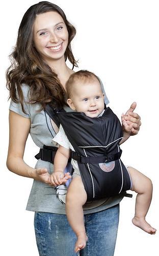 Кенгуру-рюкзак Чудо-Чадо Baby Active Simple Черный (5)