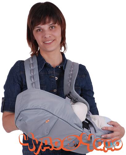 Кенгуру-рюкзак Чудо-Чадо Baby Active Simple Серый (4)
