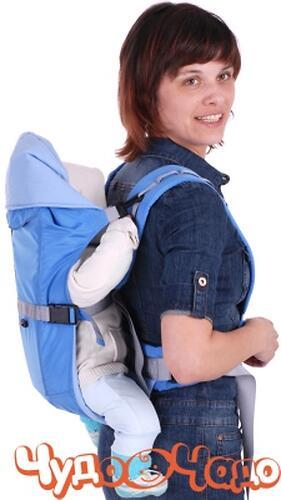 Кенгуру-рюкзак Чудо-Чадо Baby Active Simple Серый (6)