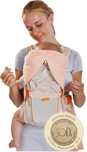 Кенгуру-рюкзак Чудо-Чадо Baby Active Luxe (бежевый) (3)
