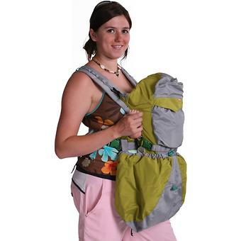 Кенгуру-рюкзак Чудо-Чадо Baby Active Luxe (серо-зеленый) - Minim