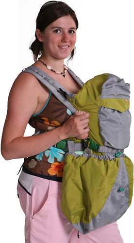 Кенгуру-рюкзак Чудо-Чадо Baby Active Luxe (серо-зеленый) (8)
