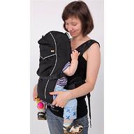 Кенгуру-рюкзак Чудо-Чадо Baby Active Luxe (черный)