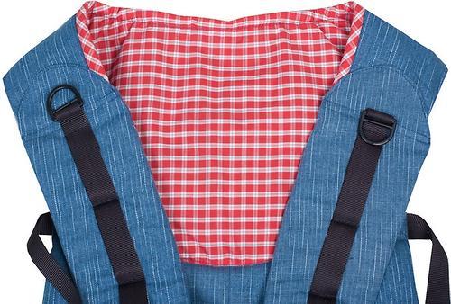 Слинг-рюкзак Чудо-Чадо Бебимобиль Хип джинсовый с красным (12)
