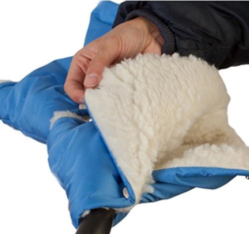 Муфты-рукавички Чудо-Чадо меховые однотонные Синие (5)