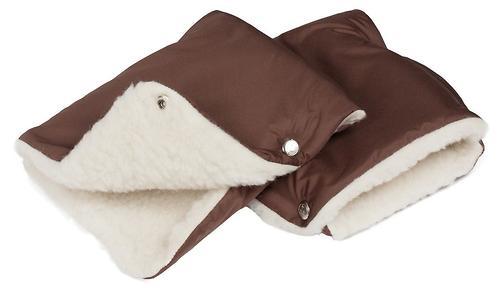 Муфты-рукавички Чудо-Чадо меховые однотонные Шоколадные (6)