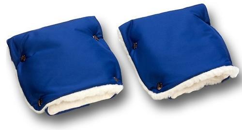 Муфты-рукавички Чудо-Чадо меховые однотонные Синие (4)