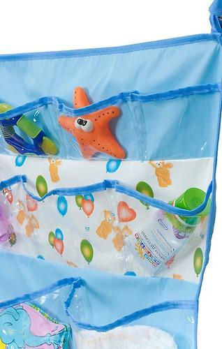 Подвесные карманы Чудо-Чадо Капитошка в ванную голубые (7)