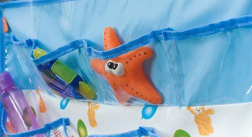 Подвесные карманы Чудо-Чадо Капитошка в ванную голубые (6)