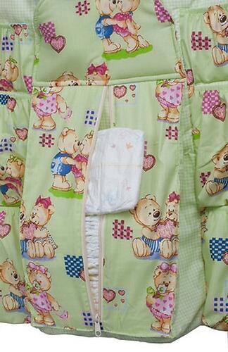 Подвесные карманы Чудо-Чадо Мишутка зеленые (10)