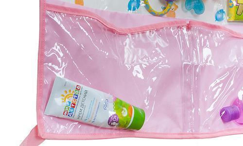 Подвесные карманы Чудо-Чадо Капитошка в ванную розовые (5)