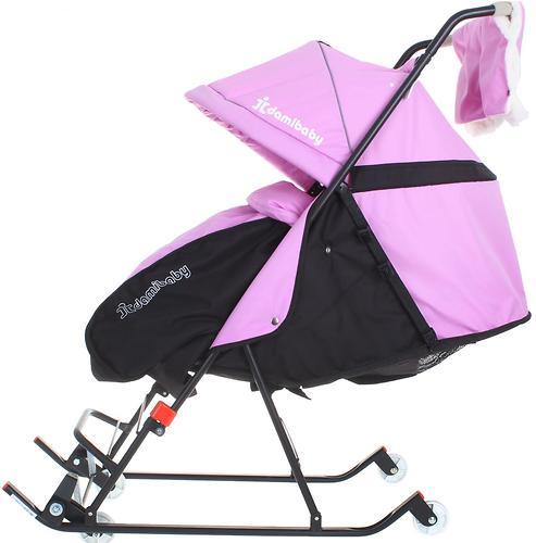 Санки-коляска Дэми 4 колеса Сиреневые (5)