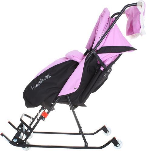 Санки-коляска Дэми 4 колеса Сиреневые (6)