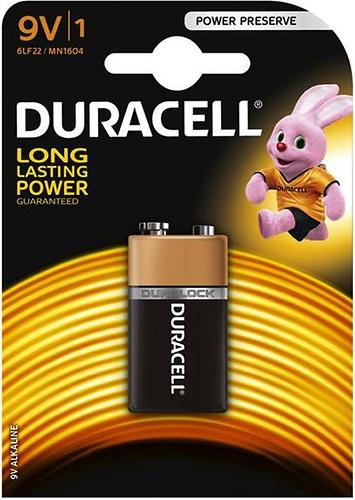 Батарейка Duracell 9V K1 1шт/уп (1)