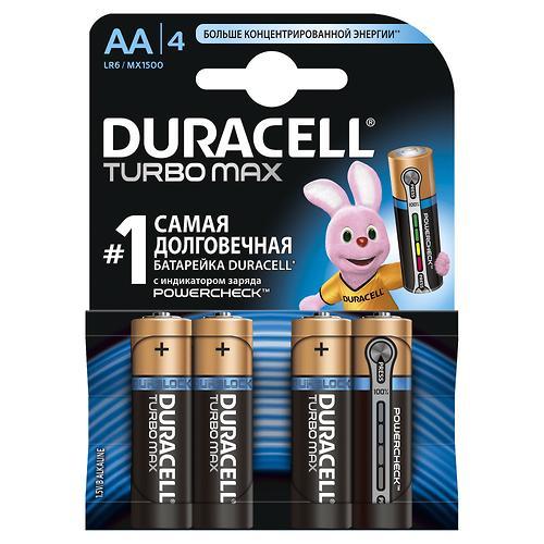 Батарейки Duracell Turbo Max AA K4 (5)