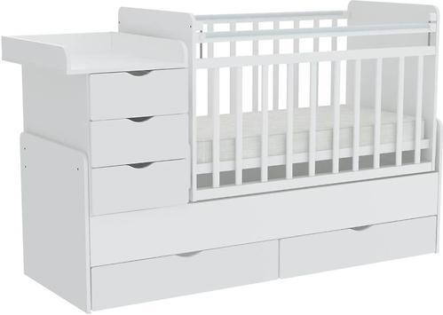 Кроватка-трансформер Фея 1150 Белый (4)