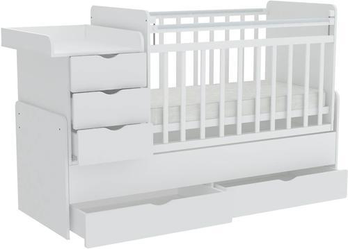 Кроватка-трансформер Фея 1150 Белый (5)