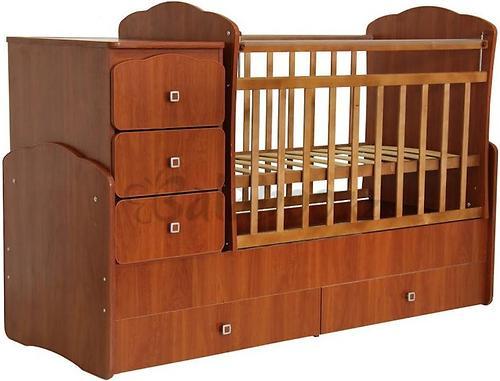 Кроватка детская Фея 2100 орех (3)
