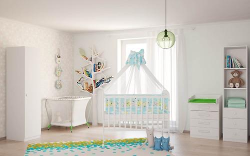 Кровать детская ФЕЯ 323 белая (8)