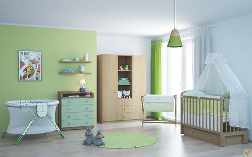 Кроватка детская ФЕЯ 328 медовый (6)