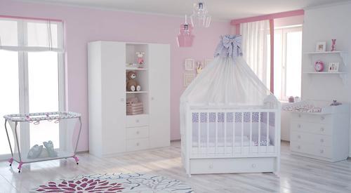 Кровать детская Фея 660 Белая (14)