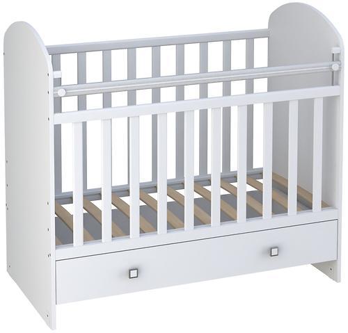 Кровать детская ФЕЯ 700 Белая (3)